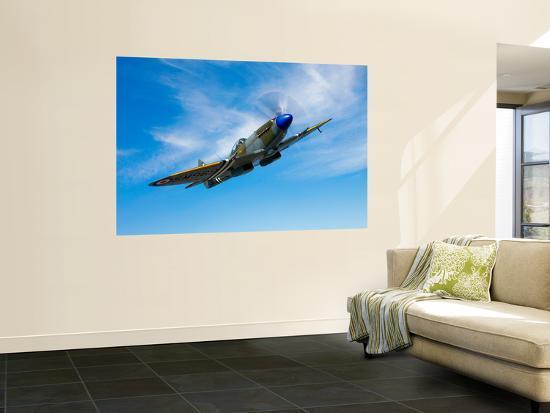 stocktrek-images-a-supermarine-spitfire-mk-18-in-flight