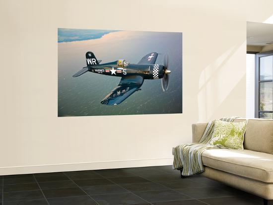 stocktrek-images-a-vought-f4u-5-corsair-in-flight