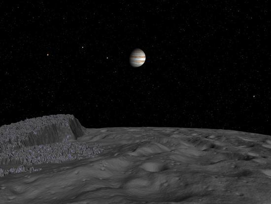 stocktrek-images-artist-s-concept-of-a-view-across-the-surface-of-themisto-towards-jupiter-and-its-moons