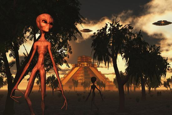 stocktrek-images-artist-s-concept-of-aliens-helping-the-mayans-build-complex-buildings
