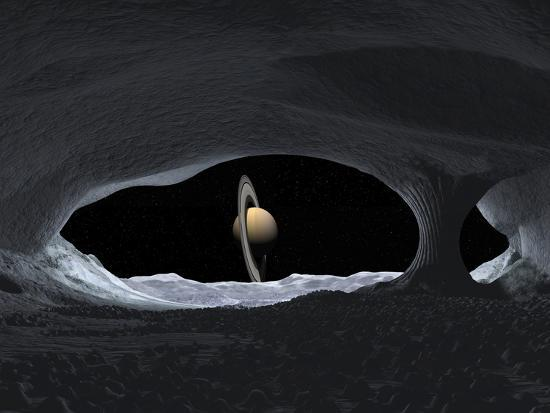 stocktrek-images-artist-s-concept-of-how-saturn-might-appear-from-within-a-hypothetical-ice-cave-on-iapetus