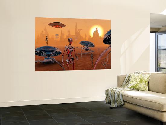 stocktrek-images-artist-s-concept-of-life-on-mars-long-ago