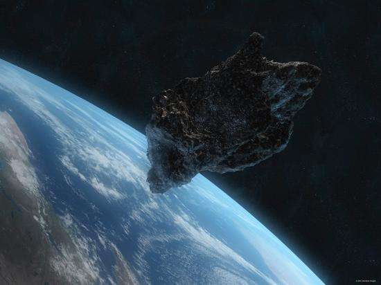 stocktrek-images-asteroid-in-front-of-the-earth