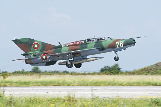 stocktrek-images-bulgarian-air-force-mig-21um-mongol-taking-off