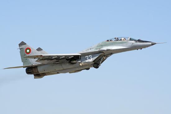 stocktrek-images-bulgarian-air-force-mig-29ub-fulcrum-taking-off