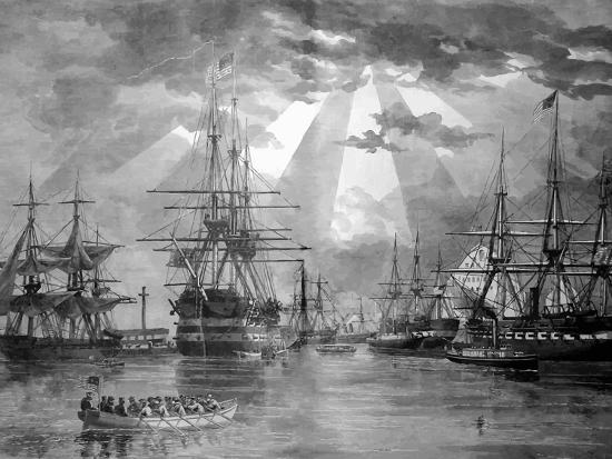 stocktrek-images-digitally-restored-vector-photo-of-u-s-naval-ships-during-the-civil-war