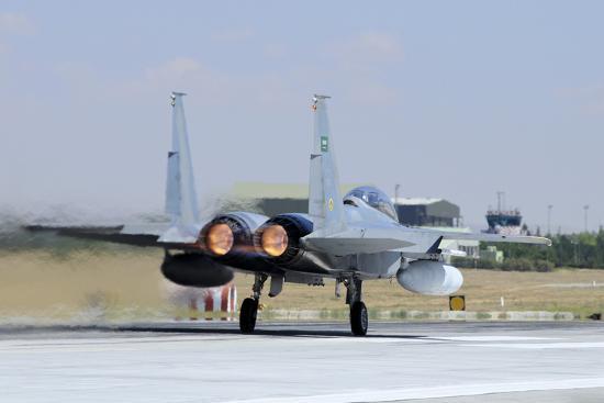 stocktrek-images-f-15-eagle-of-the-royal-saudi-air-force-taking-off