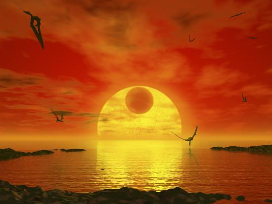 stocktrek-images-flying-life-forms-grace-the-crimson-skies-of-the-earth-like-extrasolar-planet-gliese-581-c