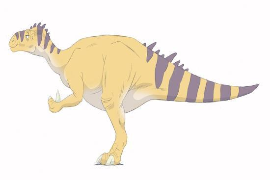 stocktrek-images-iguanodon-pencil-drawing-with-digital-color