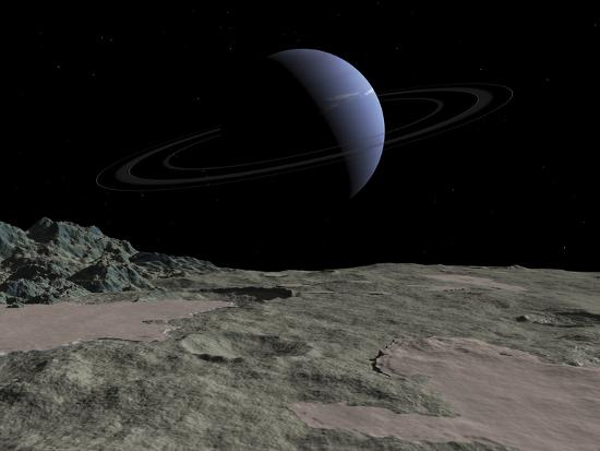 stocktrek-images-illustration-of-the-gas-giant-neptune-as-seen-from-the-surface-of-its-moon-triton