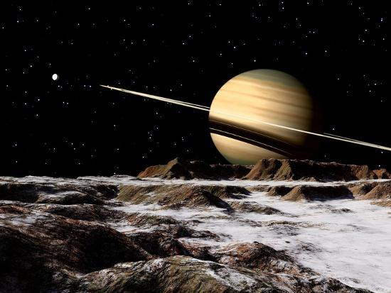stocktrek-images-saturn-seen-from-the-surface-of-its-moon-rhea