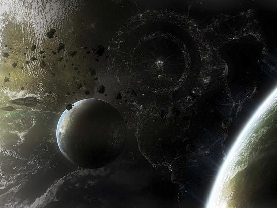 stocktrek-images-two-alien-destroyer-vessels-patrol-the-orbit-of-their-immensely-large-homeworld