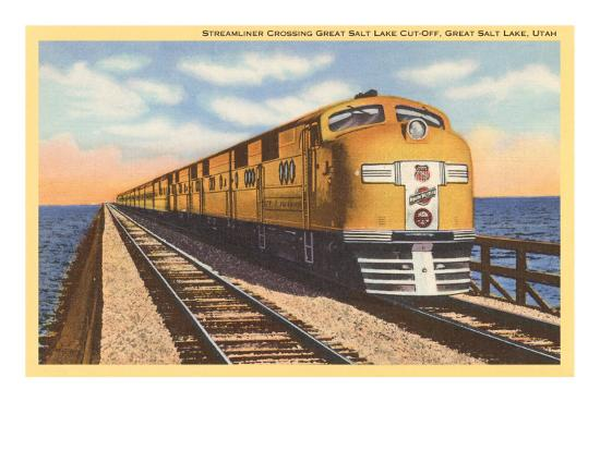 streamlined-train-crossing-great-salt-lake-utah