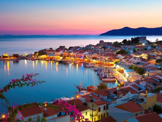 stuart-black-greek-harbour-at-dusk-samos-aegean-islands