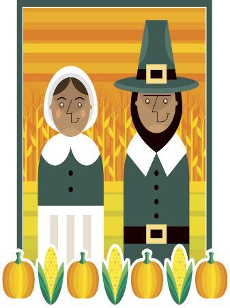 stylized-portrait-of-pilgrim-couple