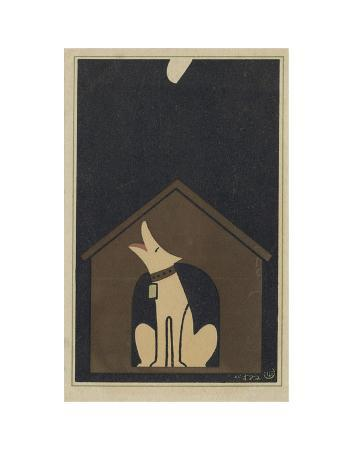 sugiura-hisui-dog-barking-at-the-moon