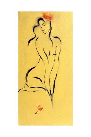 susan-adams-yellow-nude-with-pink-flower-2015