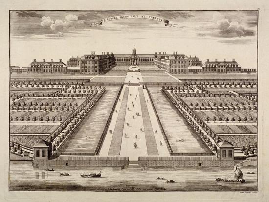 sutton-nicholls-bird-s-eye-view-of-the-royal-hospital-chelsea-london-c1750