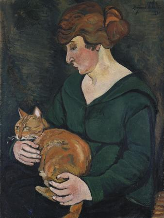 suzanne-valadon-woman-with-a-cat-louson-et-raminow-1920