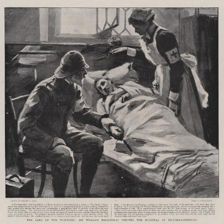 sydney-prior-hall-the-care-of-the-wounded-sir-william-maccormac-visiting-the-hospital-at-pietermaritzburg