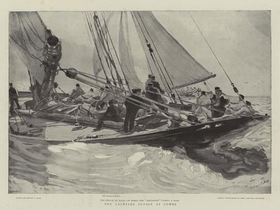 sydney-prior-hall-the-yachting-season-at-cowes