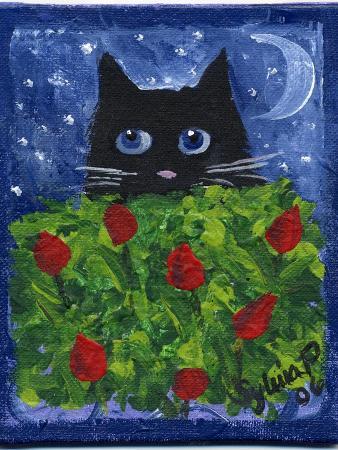 sylvia-pimental-black-cat-in-the-tulips
