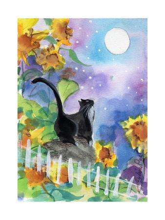 sylvia-pimental-tuxedo-cat-moonlight-sunflowers