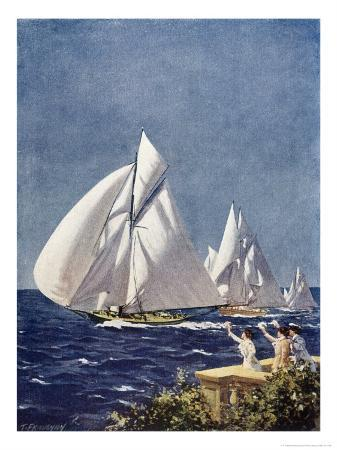 t-friedenson-scene-at-cowes-regatta-sailing-ships-fly-past-as-the-wind-fills-their-billowing-white-sails
