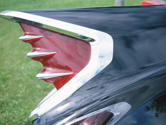 tail-lights-of-an-antique-car