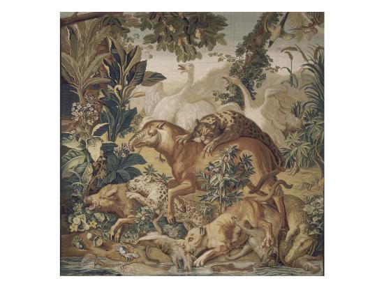 tapisserie-de-la-suite-des-indes-le-combat-d-animaux