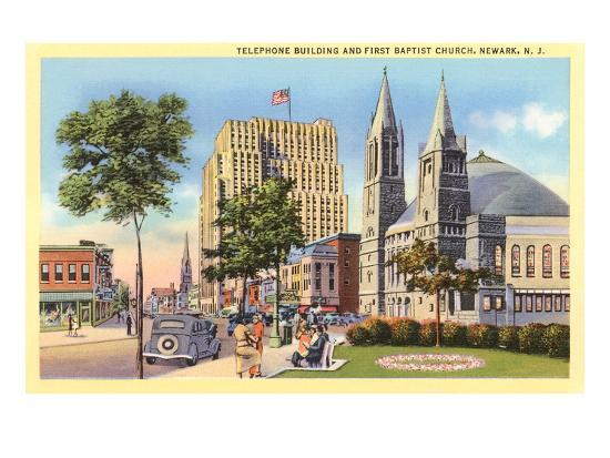 telephone-building-and-baptist-church-newark-new-jersey