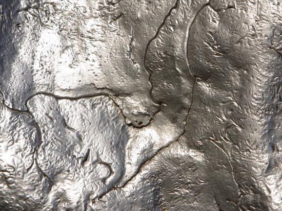 Shiny metal surface