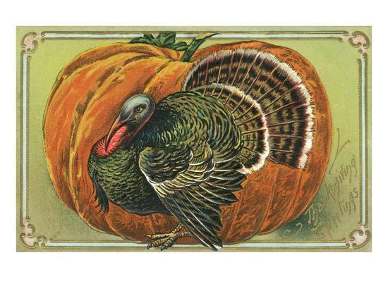 thanksgiving-greetings-with-a-turkey-and-pumpkin