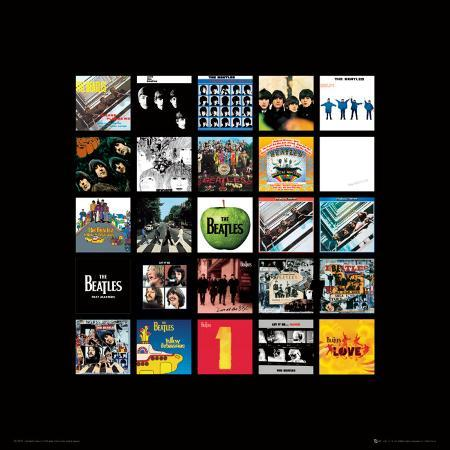 the-beatles-album-collection-music-poster