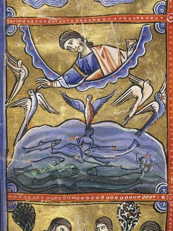 the-book-of-genesis-the-creation-of-the-birds-and-fish-miniature-from-the-bible-of-souvigny
