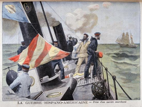 the-catching-of-a-merchant-vessel-spanish-american-war-1898