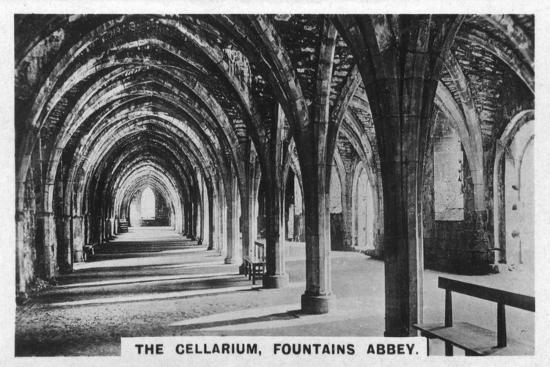 the-cellarium-fountains-abbey-yorkshire-c1920s