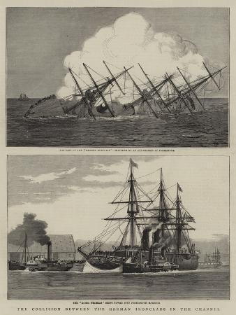 the-collision-between-the-german-ironclads-in-the-channel