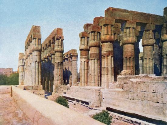 the-colonnade-of-amenhotep-iii-temple-of-luxor-egypt-20th-century
