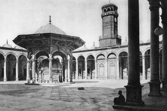 the-courtyard-of-the-mosque-of-muhammad-ali-at-the-saladin-citadel-cairo-egypt-c1920s