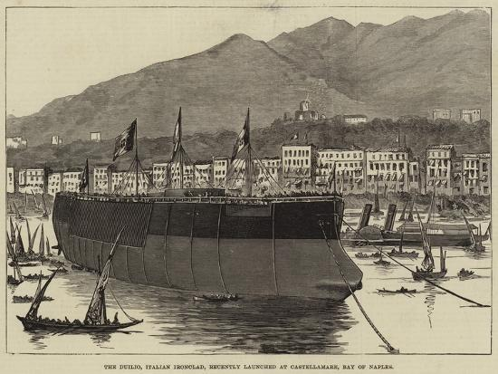 the-duilio-italian-ironclad-recently-launched-at-castellamare-bay-of-naples