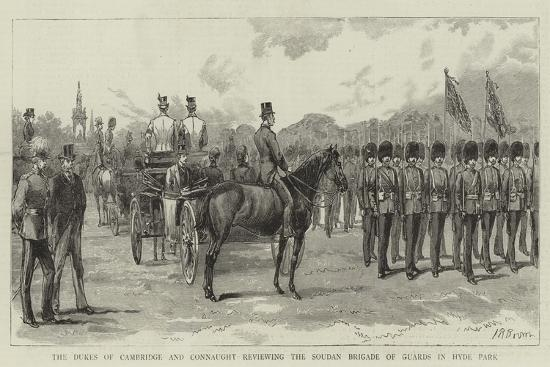the-dukes-of-cambridge-and-connaught-reviewing-the-soudan-brigade-of-guards-in-hyde-park