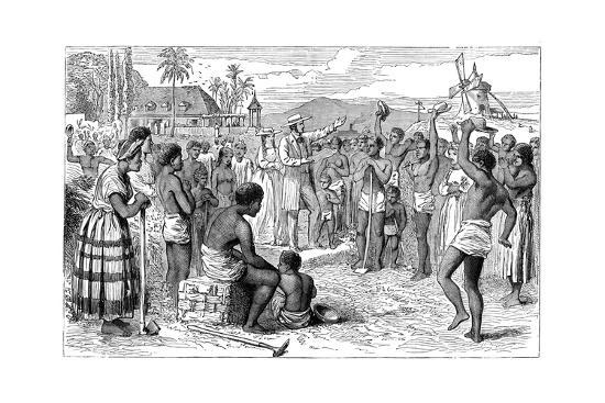 the-emancipation-of-slaves-on-a-west-indian-plantation-early-19th-century