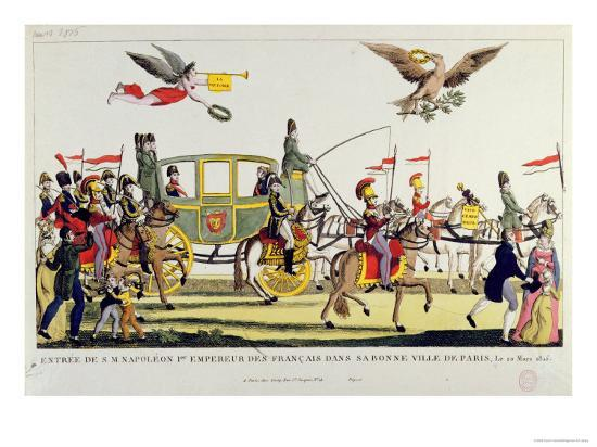 the-entry-of-napoleon-into-paris-on-20th-march-1815
