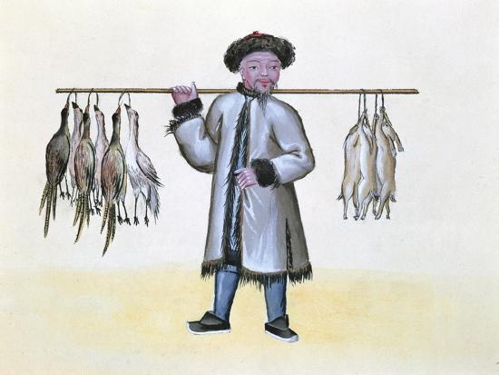the-game-merchant-from-a-book-on-the-street-calls-of-peking-c-1785-w-c-and-gouache-on-paper
