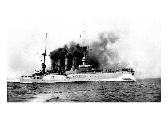 the-german-flag-ship-sunk-by-the-british-near-the-falklands-the-cruiser-scharnhorst