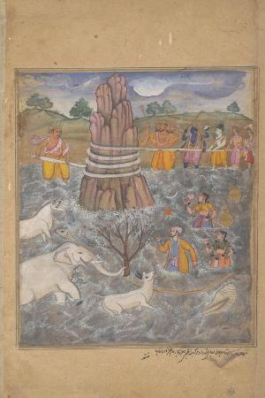 the-gods-and-asuras-churn-the-ocean-of-milk-page-from-a-dispersed-razmnama-c-1598-99