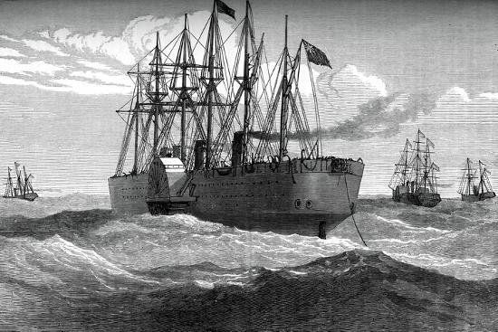 the-great-eastern-playing-out-the-atlantic-telegraph-cable-c1865