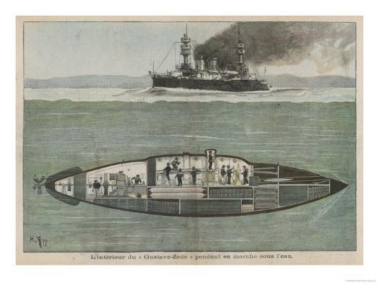 the-gustave-zede-one-of-the-world-s-first-successful-submarines-performing