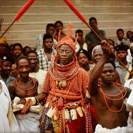 the-late-oba-akenzua-ii-in-full-regalia-including-a-coral-garment-and-headpiece